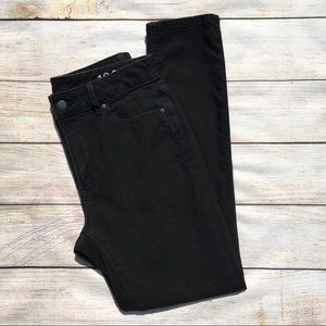 Gap | high rise skinny ankle jeans black 27s EUC